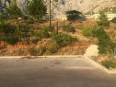 Makarska, građevinsko zemljište sa pogledom na more